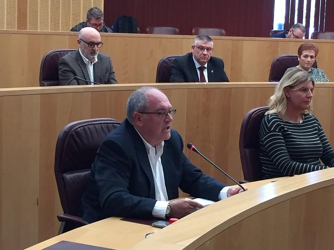 Antonio Ayllón en el pleno celebrado este martes.