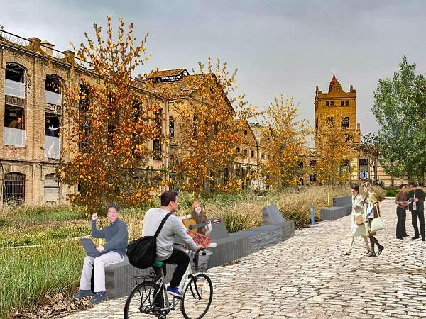 Recreación del proyecto propuesto para la Azucarera de San Isidro.