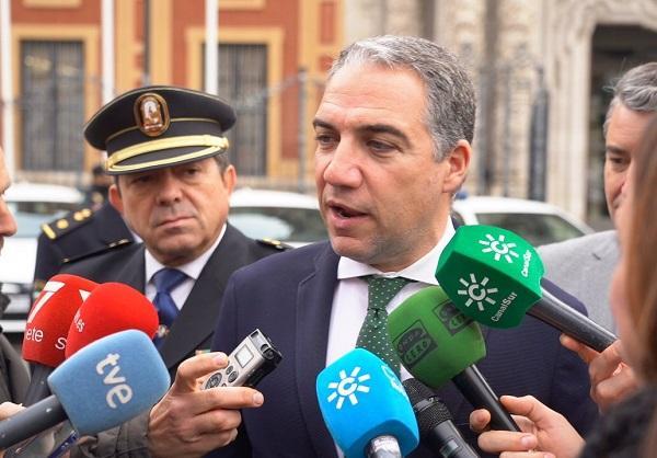 El portavoz del Gobierno, Elías Bendodo, este viernes.