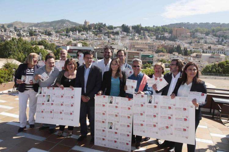 Candidatura del PSOE cuando presentó el programa electoral.