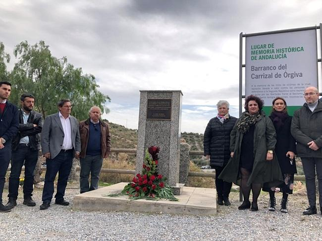 Los socialistas, en el Barranco del Carrizal .