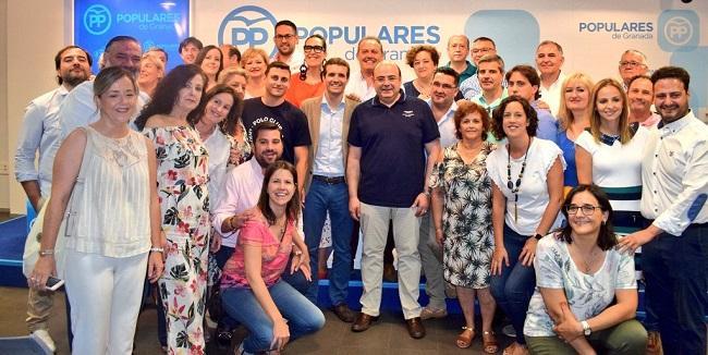 Pablo Casado, en su última visita a Granada.