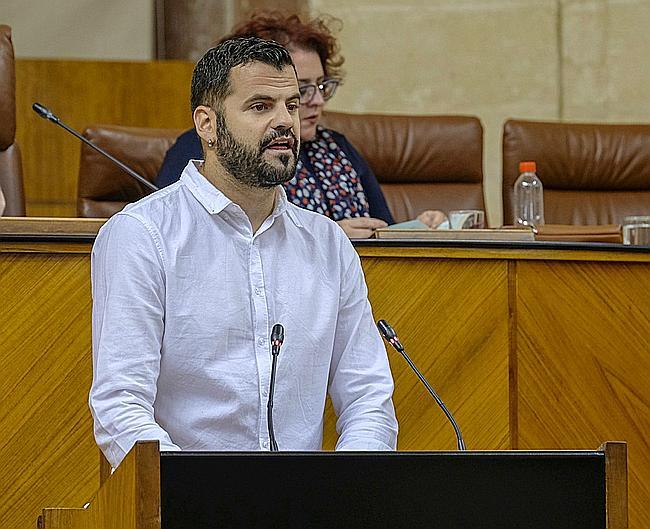 Jesús Fernández, en una intervención en el Parlamento.