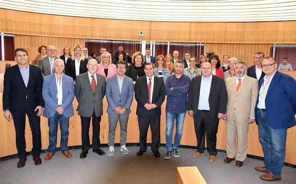 Foto de la corporación provincial que finaliza mandato.