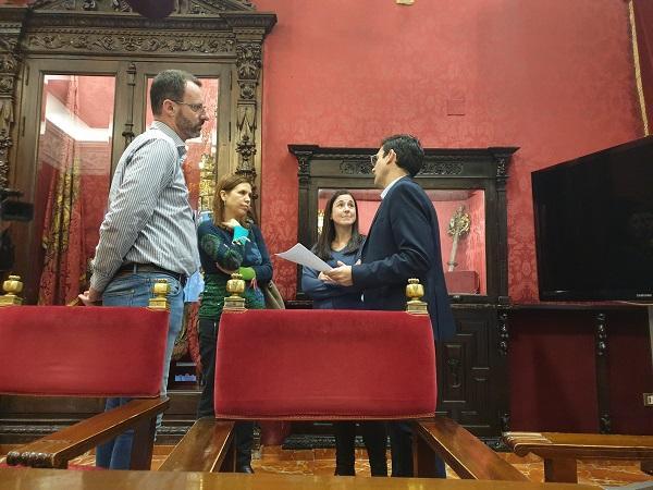 Cuenca con representantes del comité de empresa de la EASP.