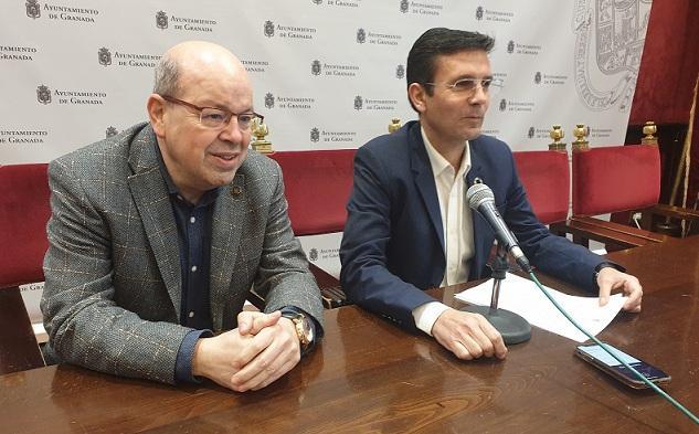 Herrera y Cuenca, en rueda de prensa.