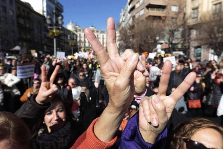 Imagen de la última manifestación celebrada a mediados de enero en Granada.