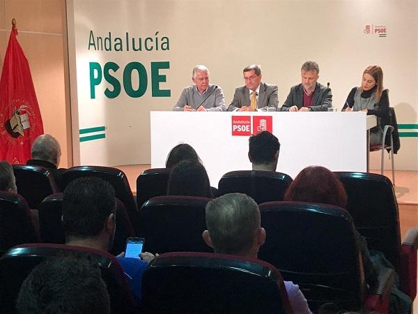 Acto del PSOE andaluz sobre Educación, este miércoles en Granada.