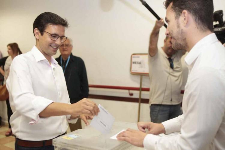 Cuenca, en el momento de la votación.