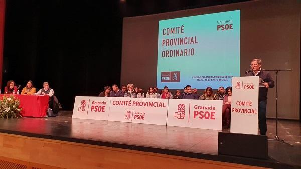 Entrena durante su intervención ante el Comité Provincial celebrado en Atarfe.