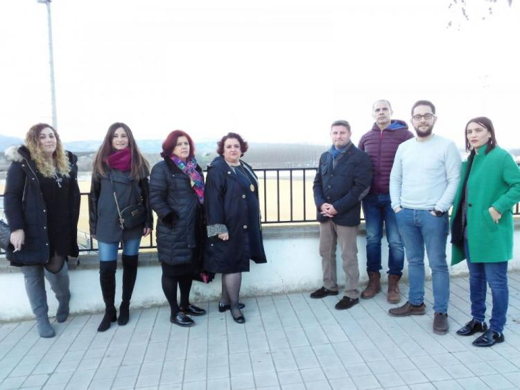 El Grupo Parlamentario Socialista en su visita a Láchar.