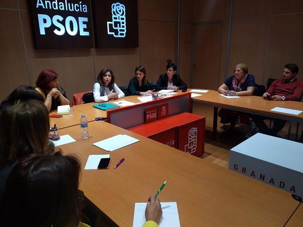 Reunión de los candidatos socialistas con la presidenta de Vida.