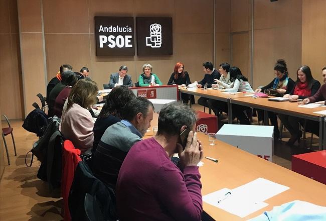 Reunión de la Ejecutiva del PSOE de Granada este lunes.