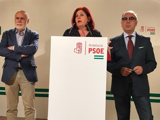 Elvira Ramón flanqueada por Gregorio Cámara y José Martínez Olmos.