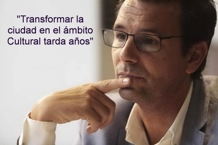 Francisco Cuenca, en un momento de la entrevista.