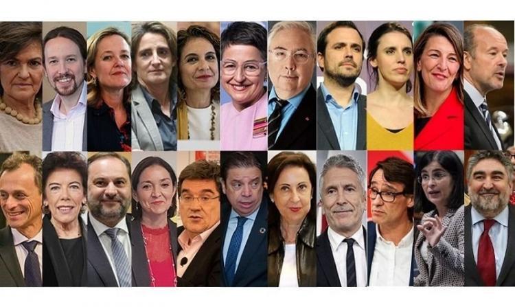 Ministros y ministras del Gobierno de coalición.