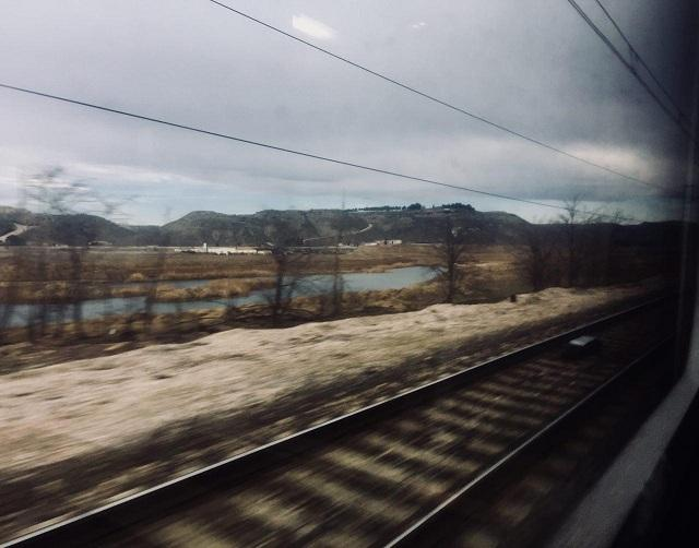 Imagen desde el tren que va a Madrid por Guadix.