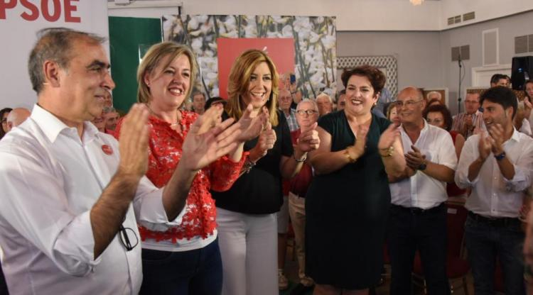 Martínez Olmos, la alcaldesa de Guadix, Díaz y Jiménez.