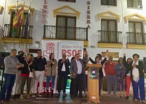 Acto del PSOE en Güéjar Sierra.