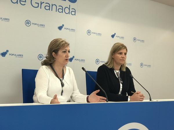 Inmaculada López e Inmaculada Hernández, en rueda de prensa.
