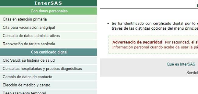 Acceso a datos confidenciales del usuario del SAS.