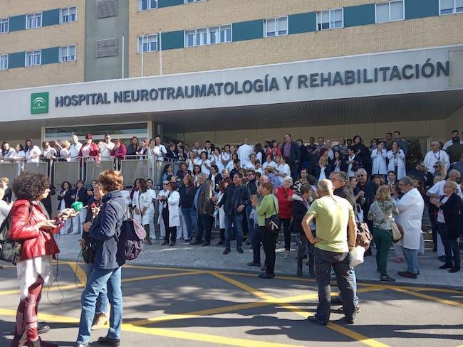 Imagen de una de las concentraciones celebradas en Granada.