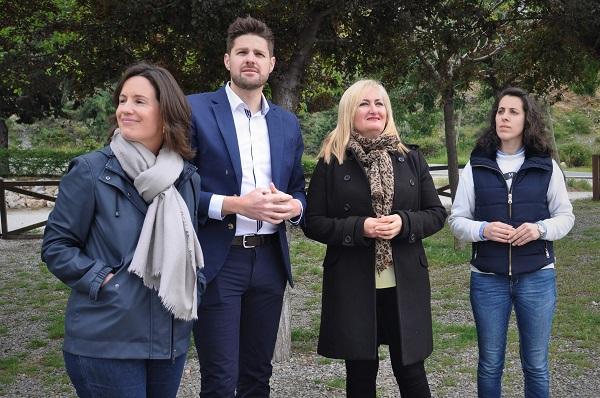 Las candidatas del PP, en Lanjarón.