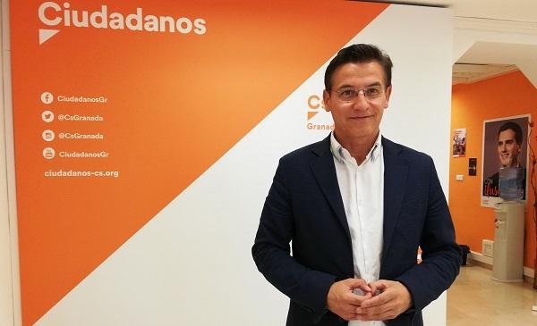 Luis Salvador, este lunes en la sede de Ciudadanos.