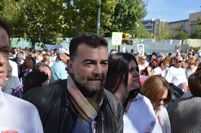 Antonio Maíllo, este domingo en la manifestación.
