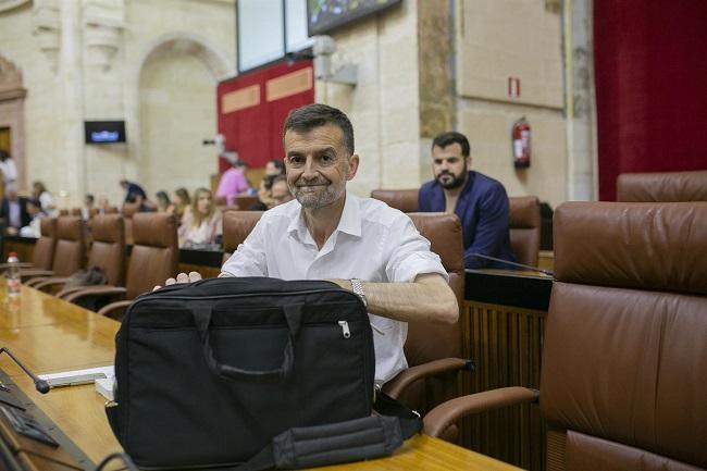 Antonio Maíllo, en el Parlamento.