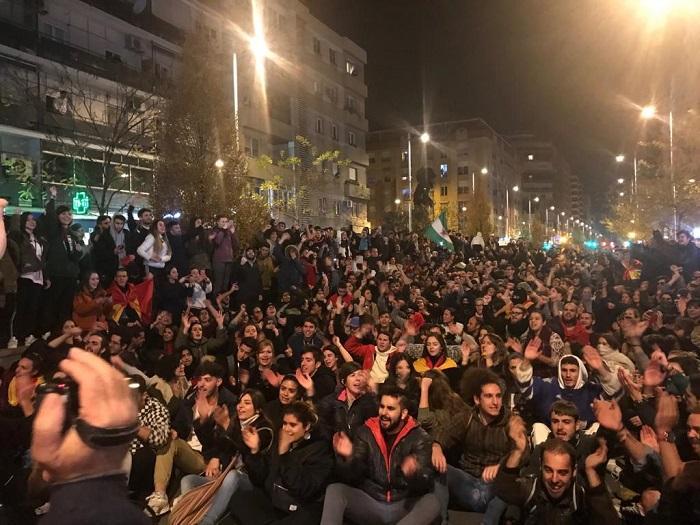 La manifestación en Camino de Ronda.