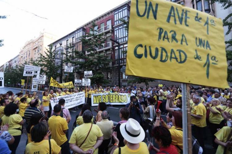 Manifestación por el soterramiento del AVE.