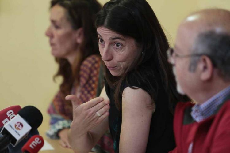 Marta Gutiérrez, con Pilar Rivas y Luis de Haro-Rossi en una imagen de archivo..