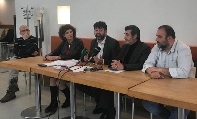 Sánchez Mato, en rueda de prensa junto a Cambril, Puentedura y Cabrerizo.