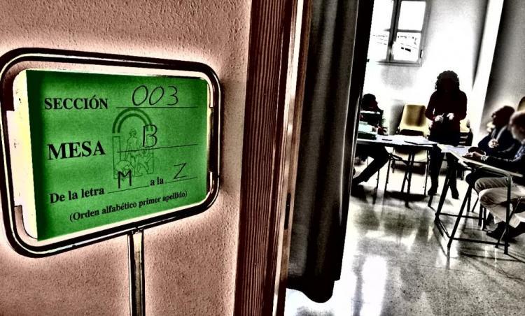 Colegio electoral el pasado 2-D.