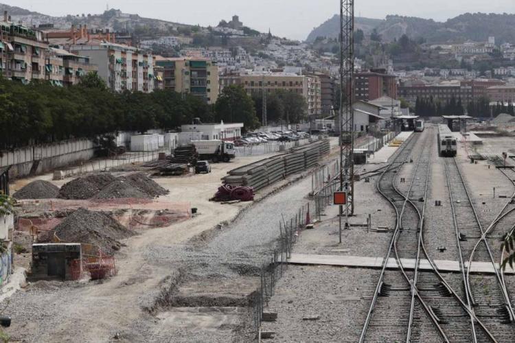 Aspecto de la estación al inicio de las obras del AVE.