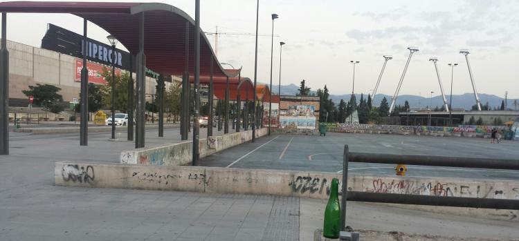 Imagen del botellódromo el día antes de su cierre en septiembre de 2016.