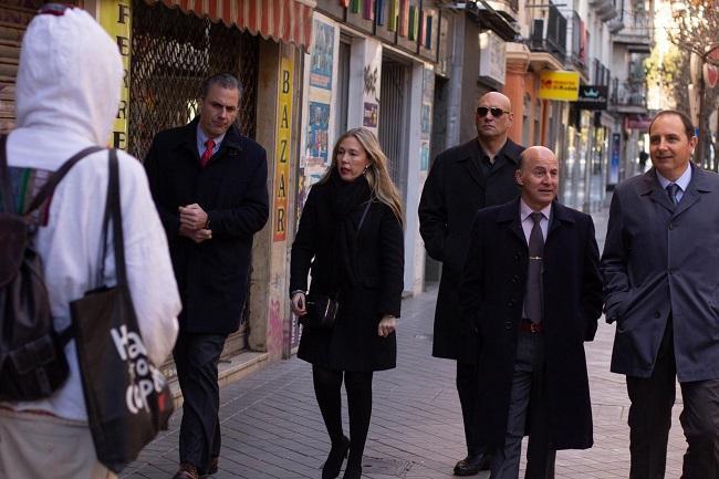Javier Ortega Smith y otros representantes de Vox, el pasado 2 de enero en Granada.