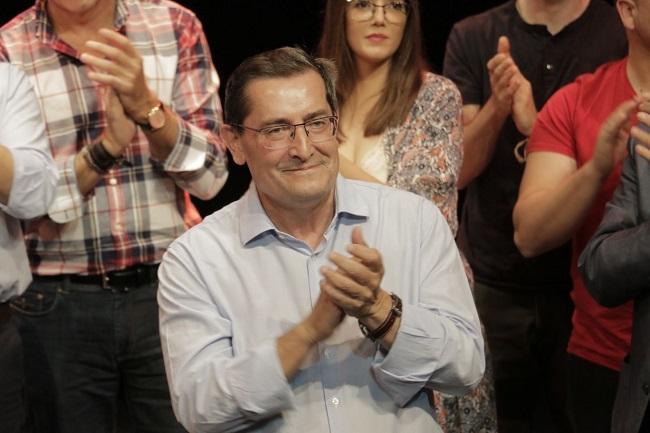 Pepe Entrena, en un acto de su campaña a Primarias.