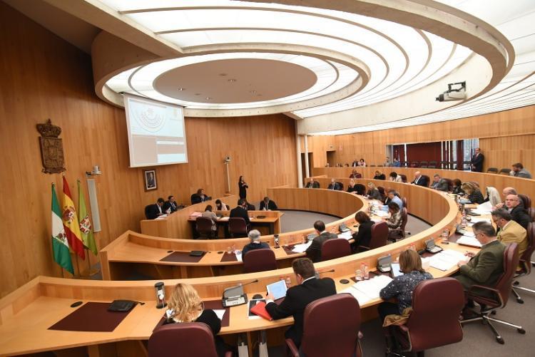 Imagen de un pleno de la Diputación.
