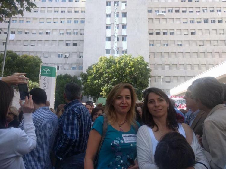 Carmen Lizárraga y Marta Gutiérrez.