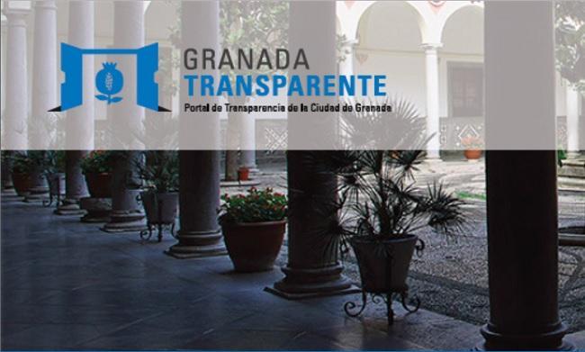 Entrada del portal de transparencia del Ayuntamiento de Granada.