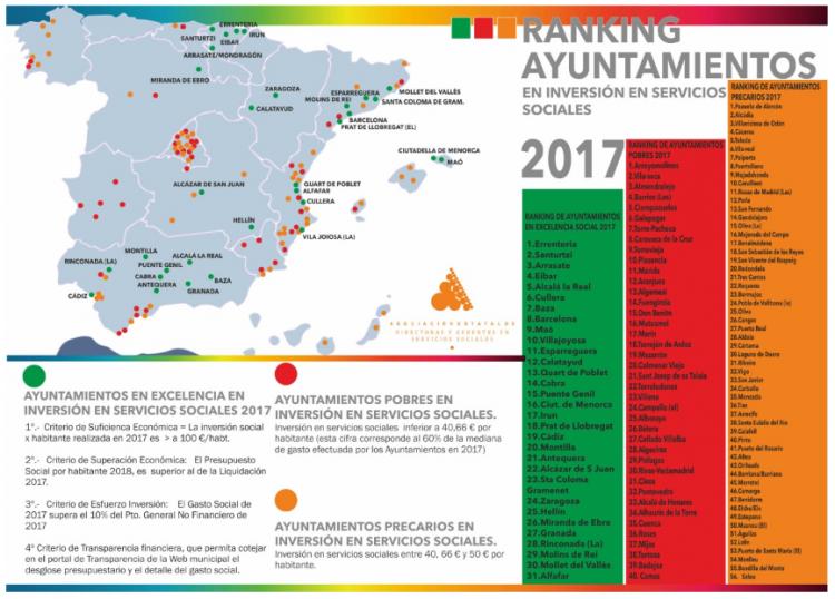 Imagen con el mapa y el detalle de los ayuntamientos.