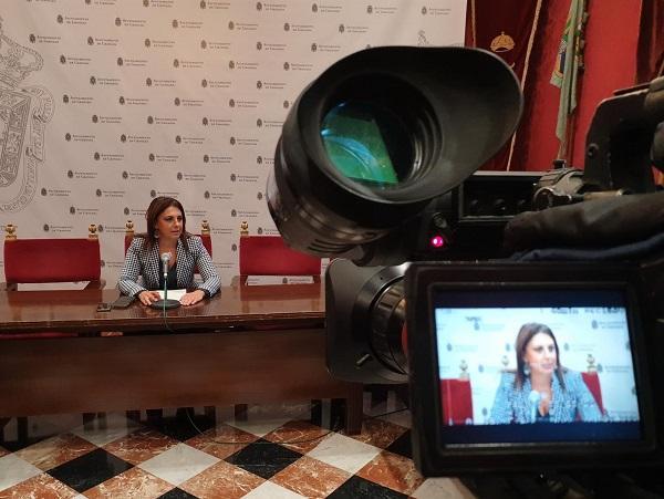 Raquel Ruz, en rueda de prensa.