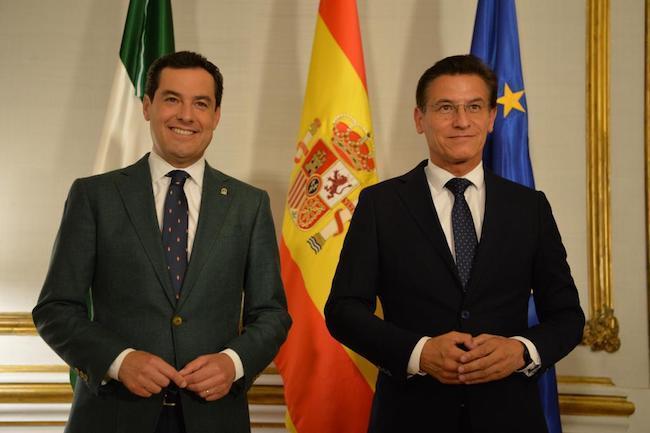 Moreno y Salvador, este martes en San Telmo.