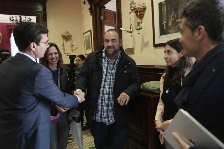 Cuenca con los portavoces de la oposición.