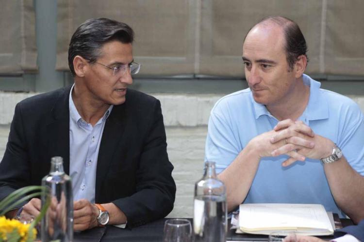 Salvador y García Montero, este viernes.