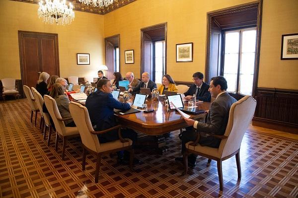 Imagen de la primera reunión del Consejo de Gobierno en San Telmo, el pasado febrero.