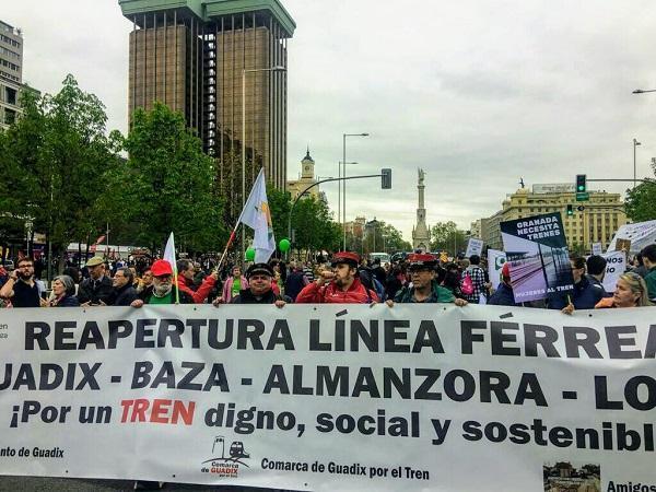 Imagen de archivo de la participación en la protesta de la España Vaciada.