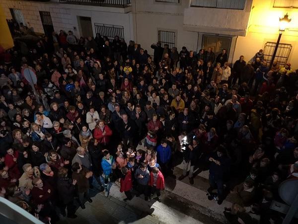 Multitudinaria concentración en Salar para rechazar la entrega de las Venus romanas.